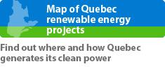 Carte des énergies renouvelables du Québec (En)